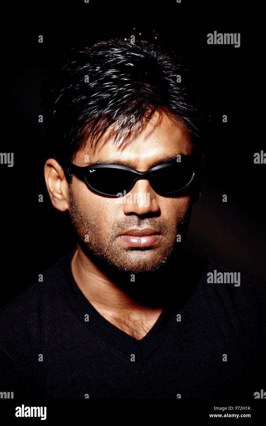 Indian film actor, sunil shetty, india, asia, 2000 - Stock Image