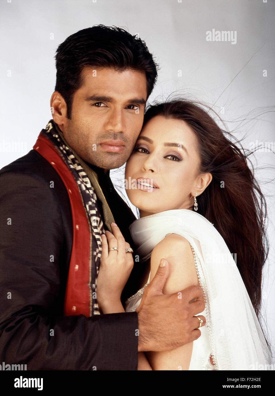indian film actor sunil shetty actress mahima chaudhry india asia