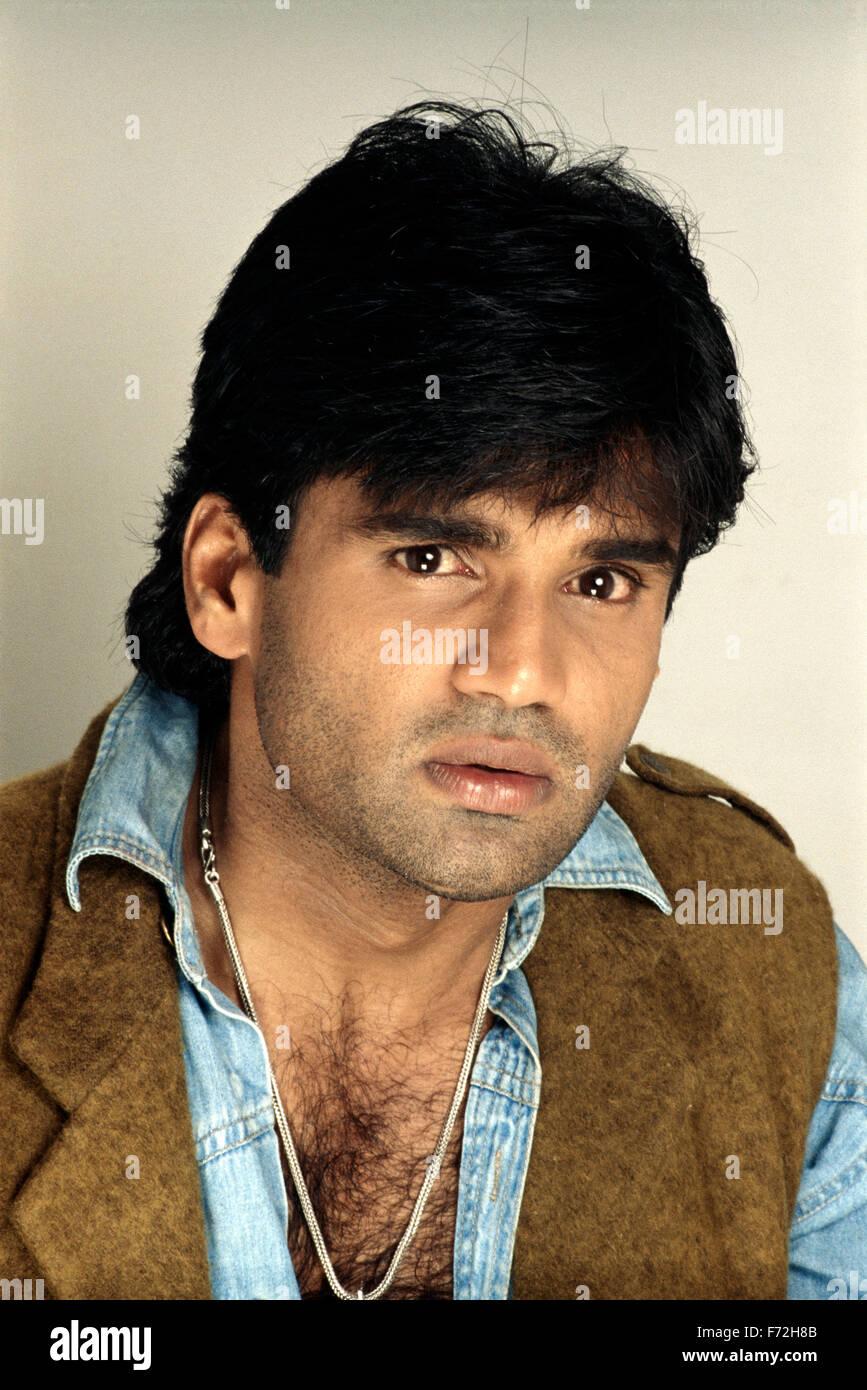 indian film actor sunil shetty india asia 1999 stock photo