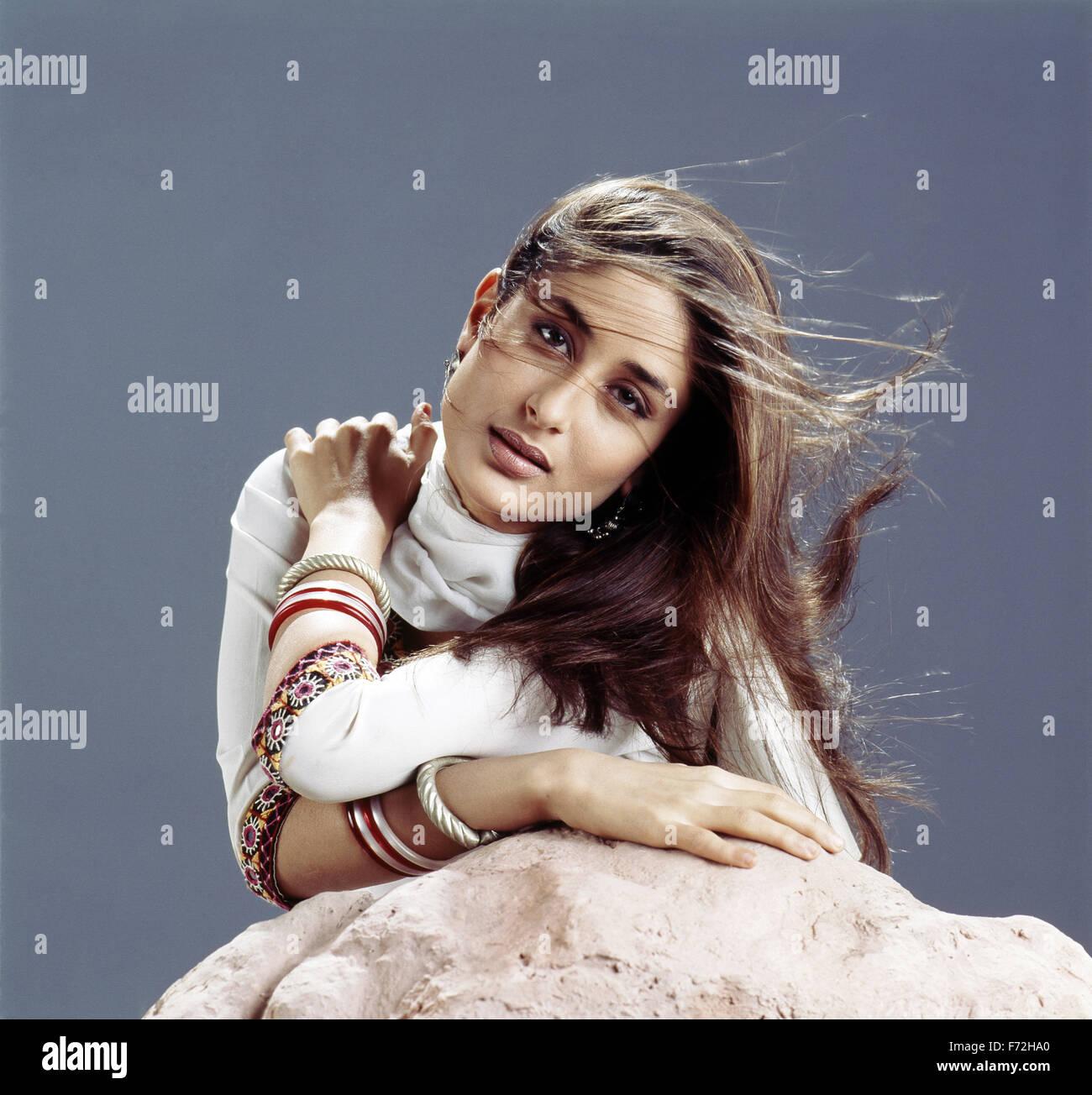 Indian film actress, kareena kapoor, india, asia, 2000 - Stock Image