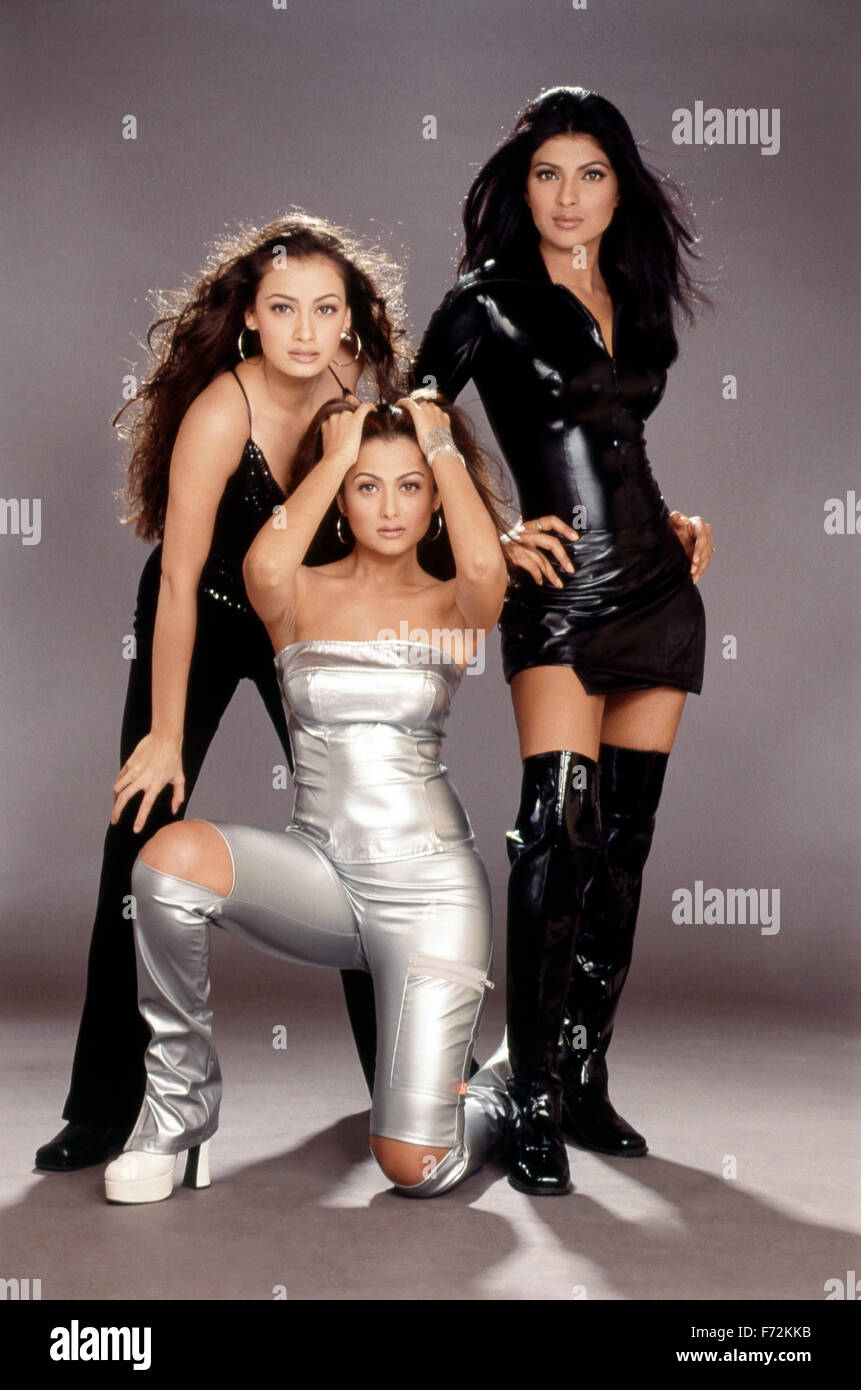 Indian film actresses amrita arora, dia mirza, priyanka chopra india asia  2004