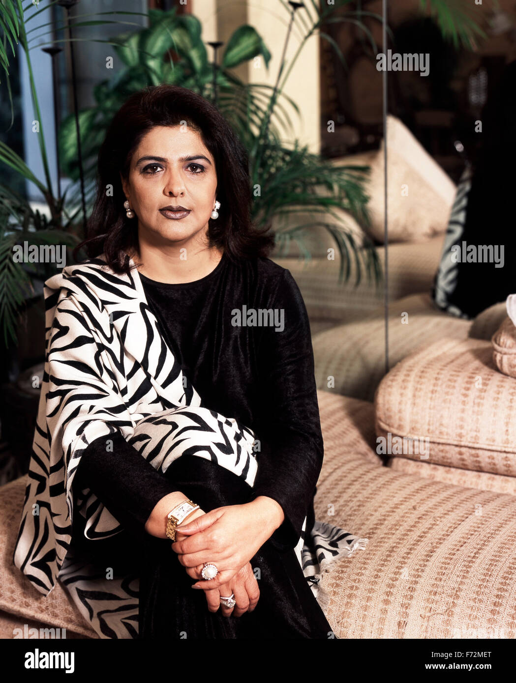Pinky roshan mother of hrithik roshan, india, asia, 2002 - Stock Image