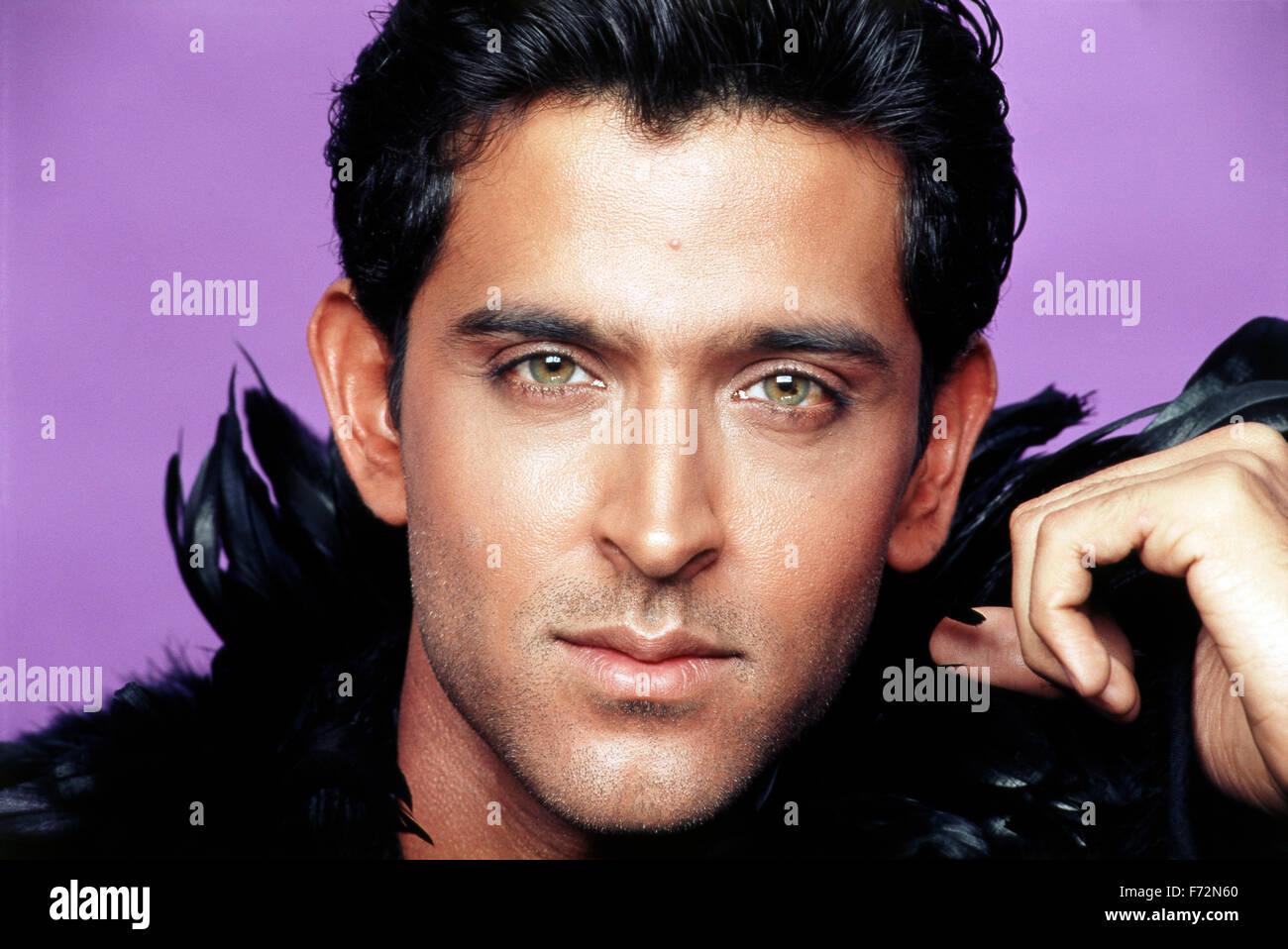 Indian Film Actor Hrithik Roshan India Asia 2004 Stock Photo