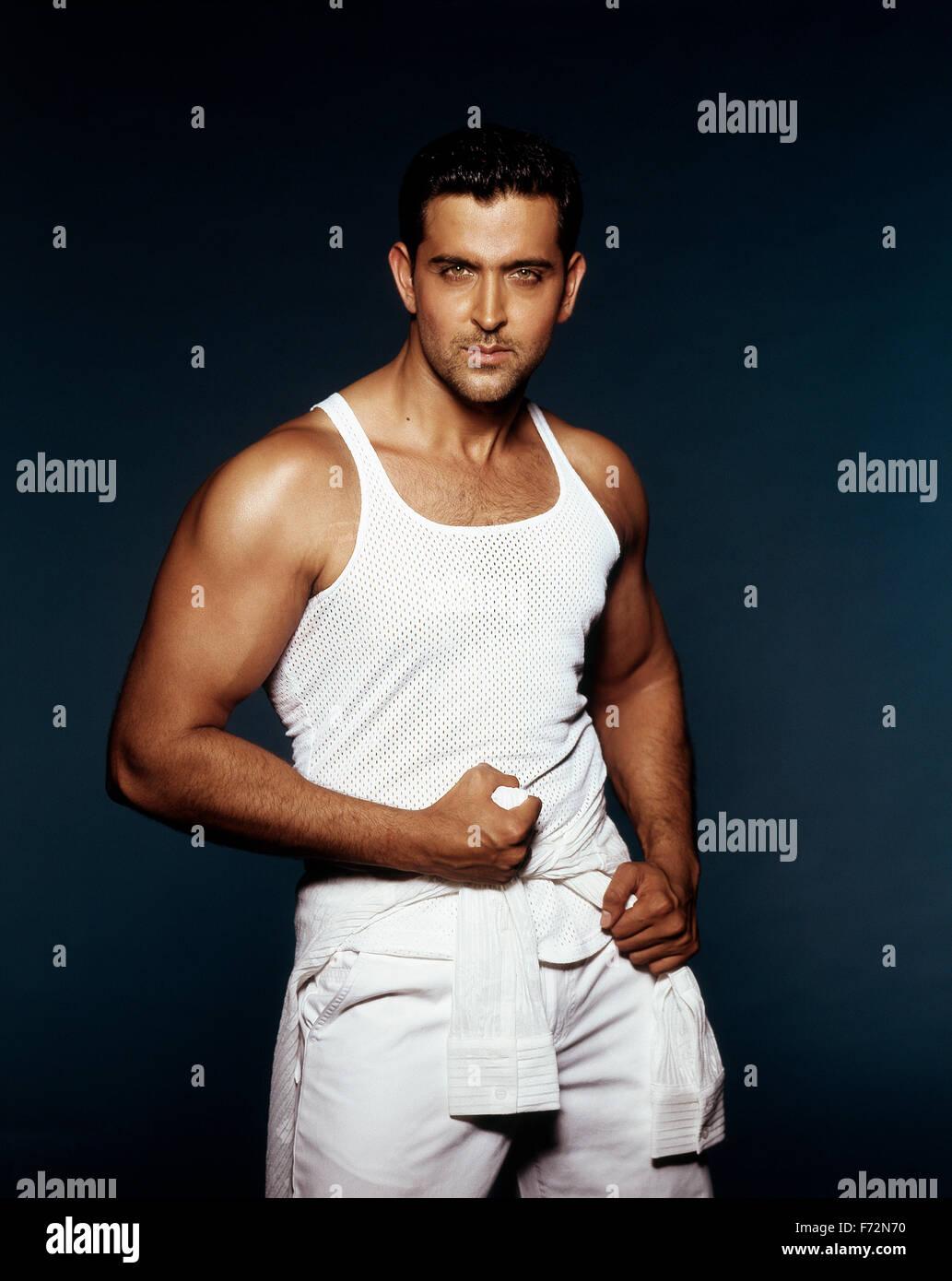 Indian film actor, hrithik roshan, india - Stock Image