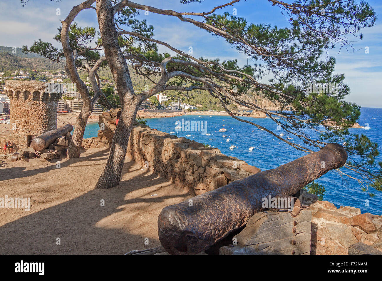 Fortifications At Tossa De Mar Catalonia Spain - Stock Image