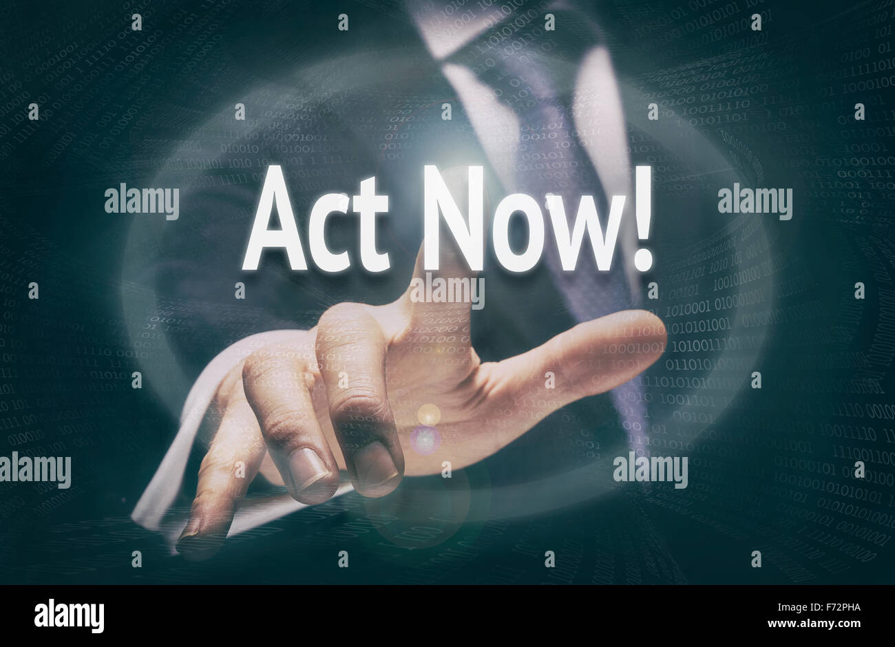 Act Now, Induction Training headlines concept. - Stock Image