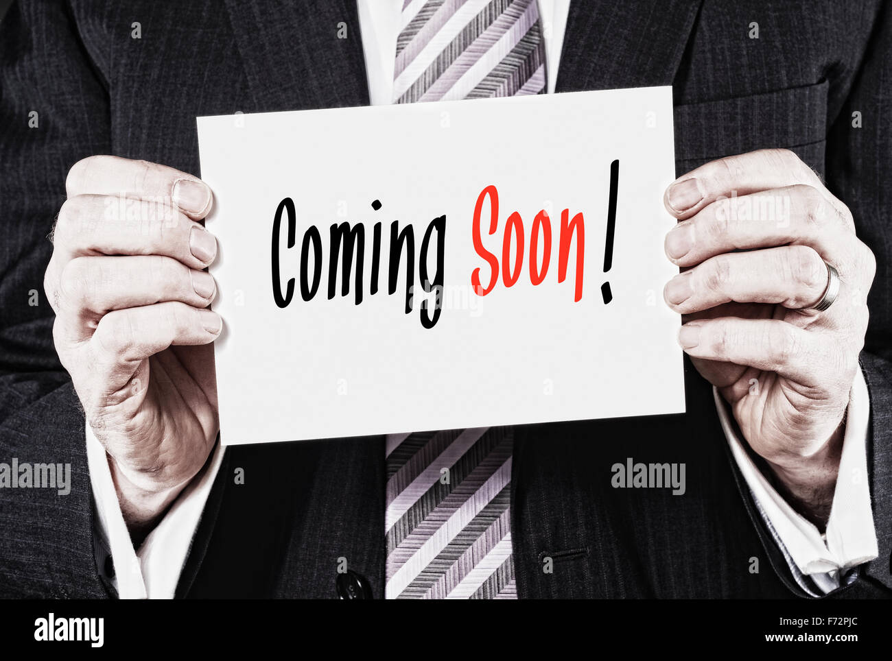 Coming Soon, Induction Training headlines concept. - Stock Image