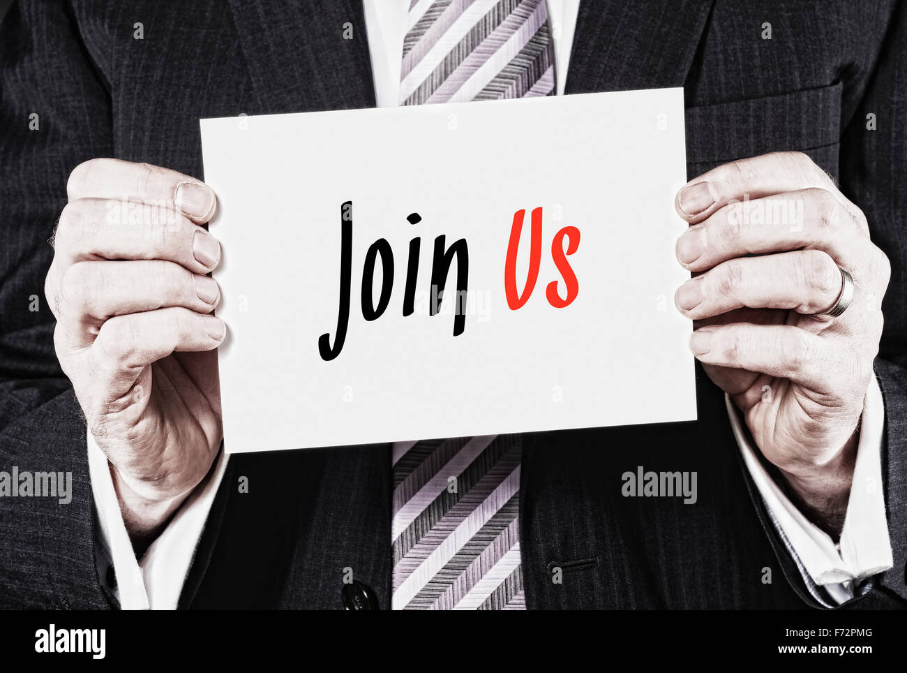 Join Us, Induction Training headlines concept. - Stock Image