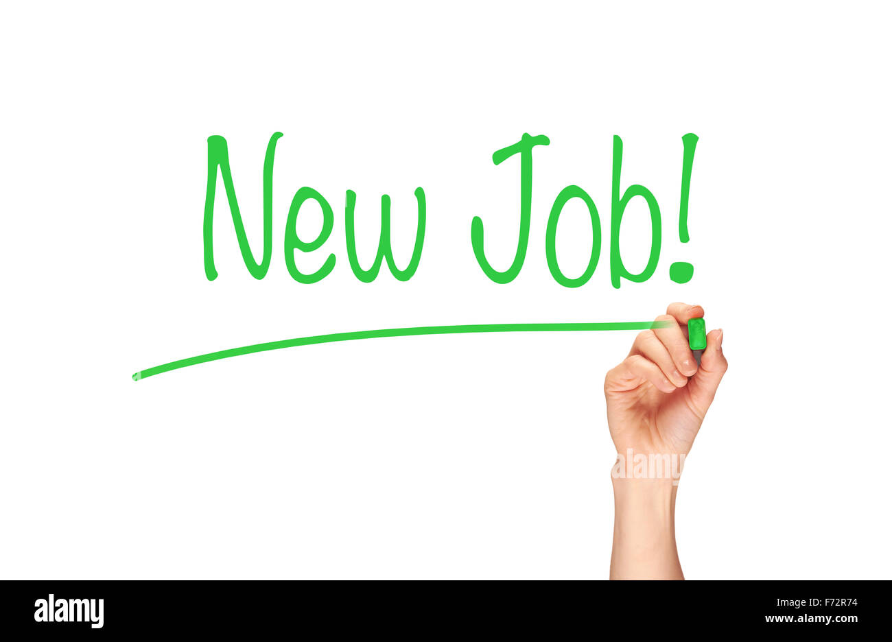 New Job, Induction Training headlines concept. - Stock Image