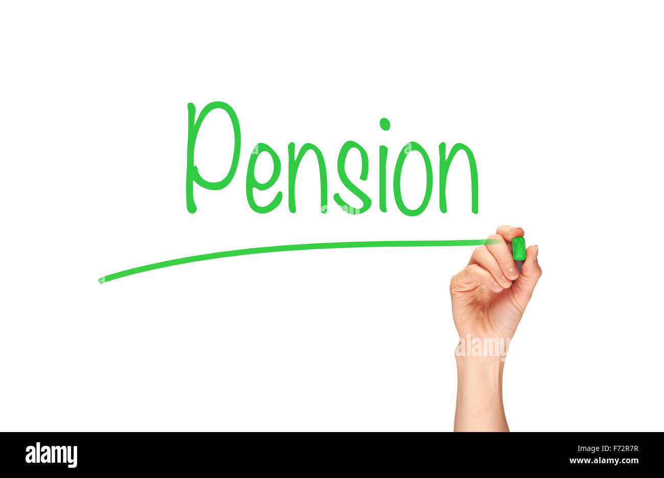 Pension, Induction Training headlines concept. - Stock Image