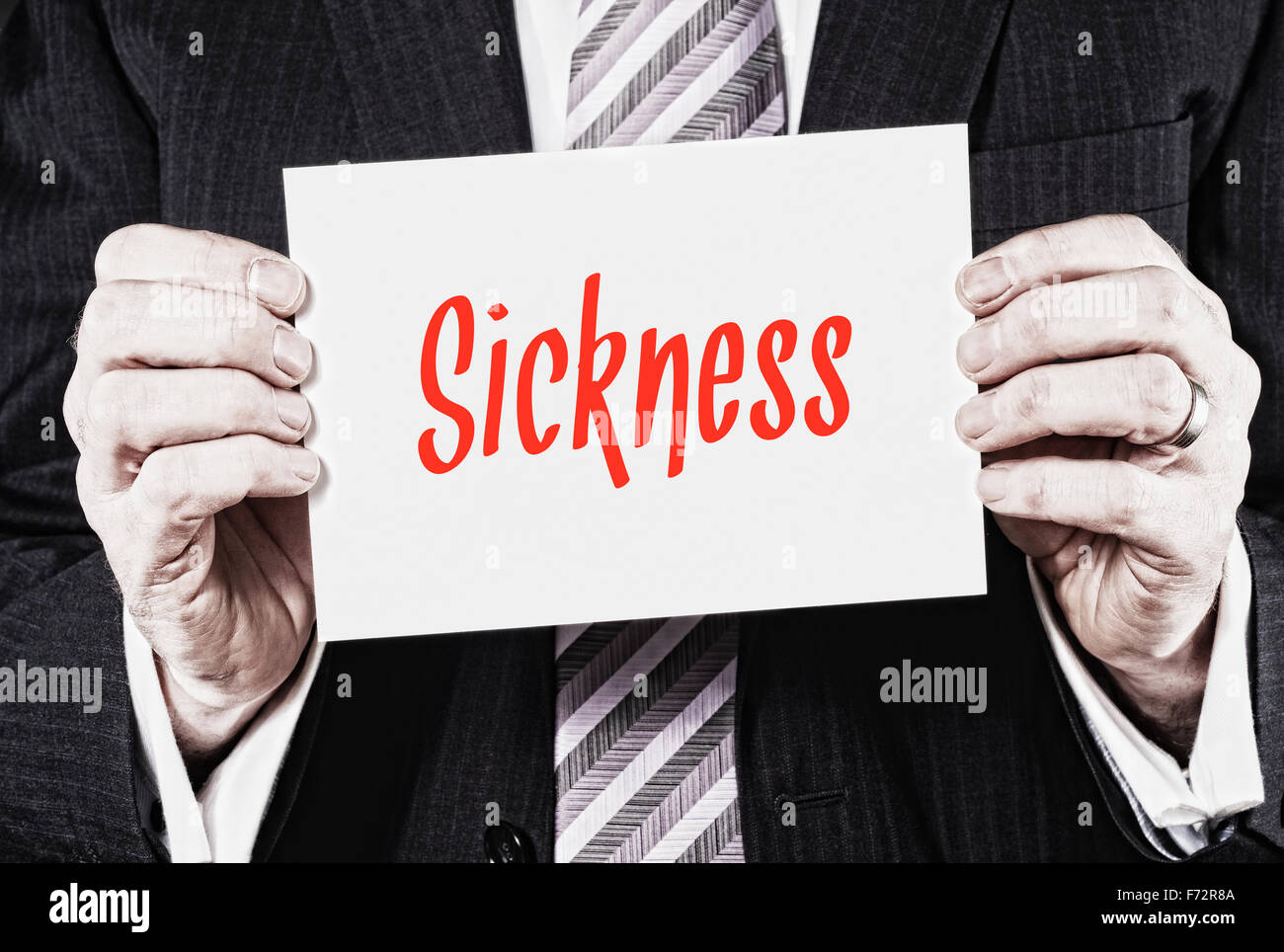 Sickness, Induction Training headlines concept. - Stock Image