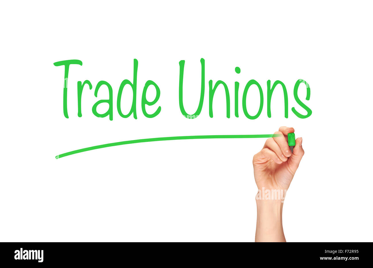 Trade Unions, Induction Training headlines concept. - Stock Image