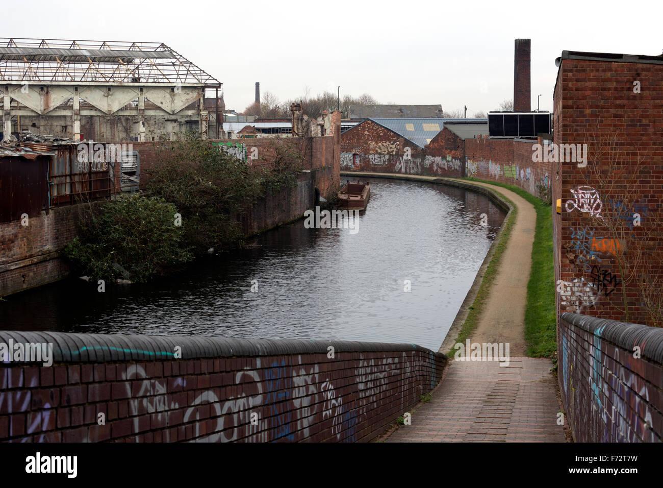 Soho Loop canal, BCN Old Main Line, Birmingham, UK - Stock Image
