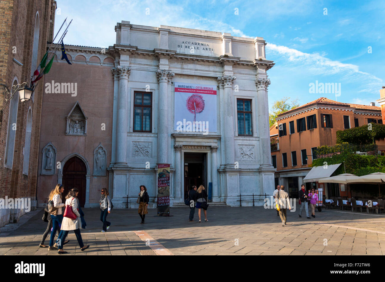 Accademia art gallery in Venice, Italy. frontage front entrance - Stock Image