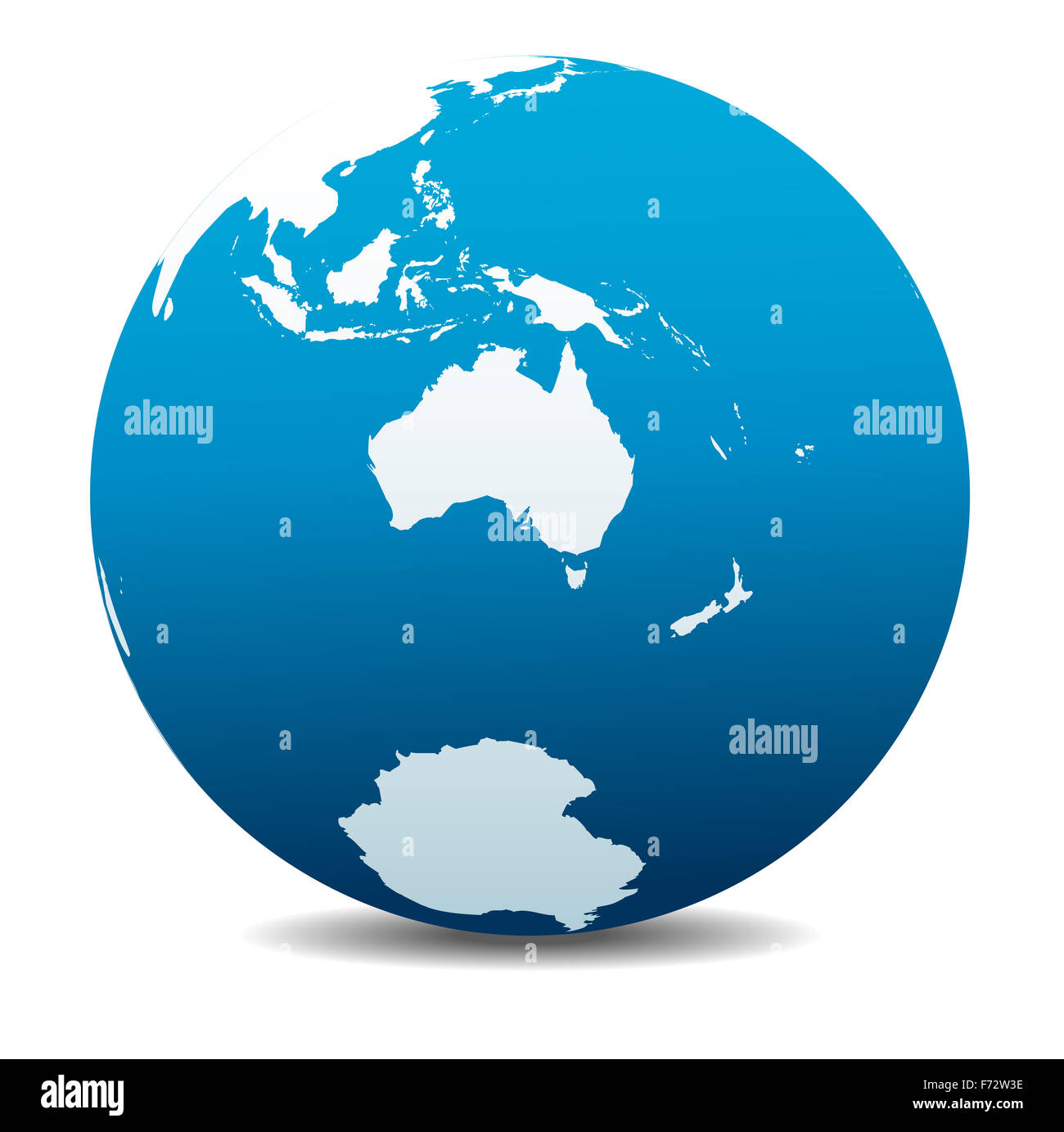 Australia and New Zealand, South Pole, Antarctica, Global World - Stock Image