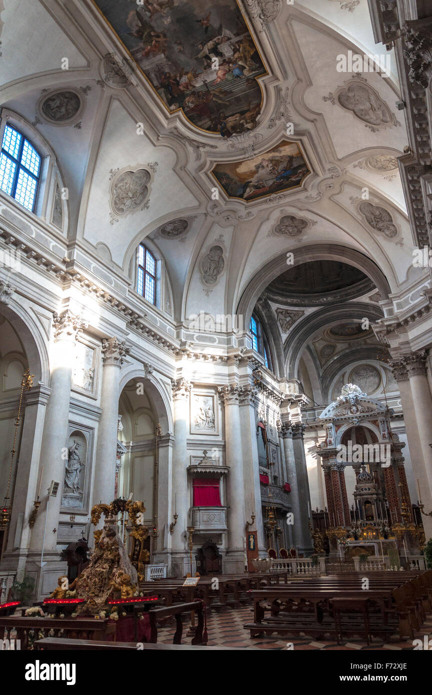 Chiesa di Santa Maria del Rosario or Gesuati church in Venice, Italy Stock Photo