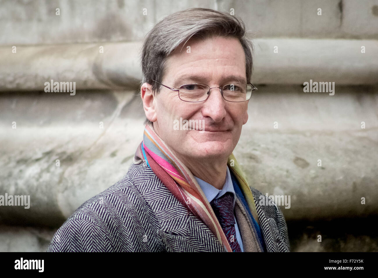 London, UK. 24th November, 2015. Dominic Grieve MP arrives to attend the Tenth General Synod at Westminster Abbey Stock Photo