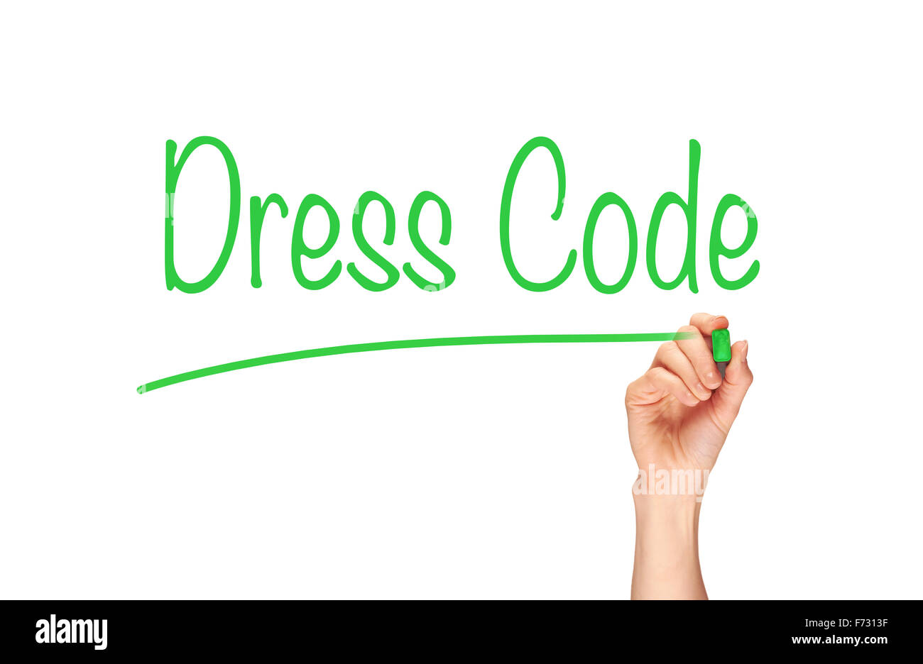 Dress Code, Induction Training headlines concept. - Stock Image