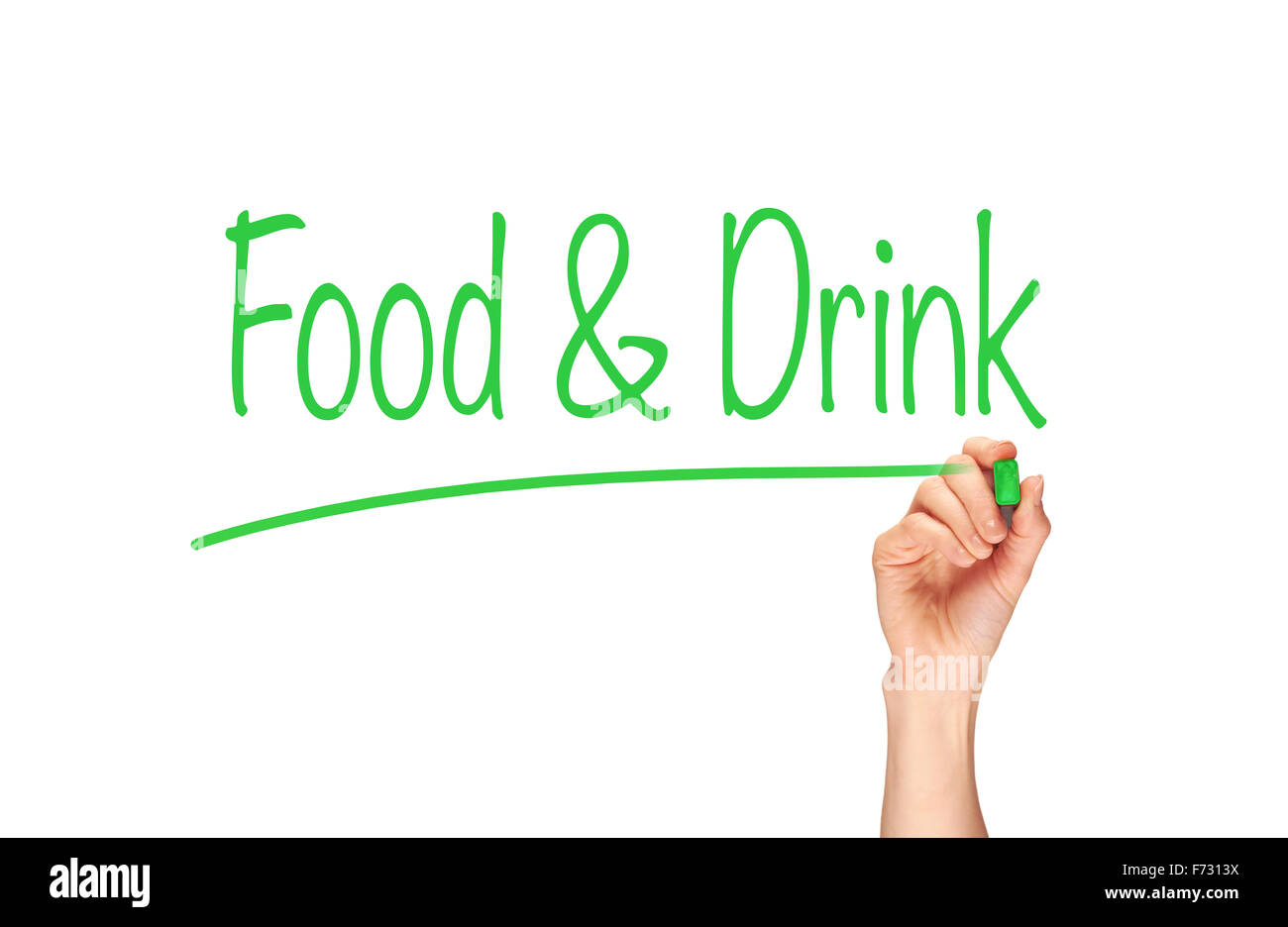 Food & Drink, Induction Training headlines concept. - Stock Image