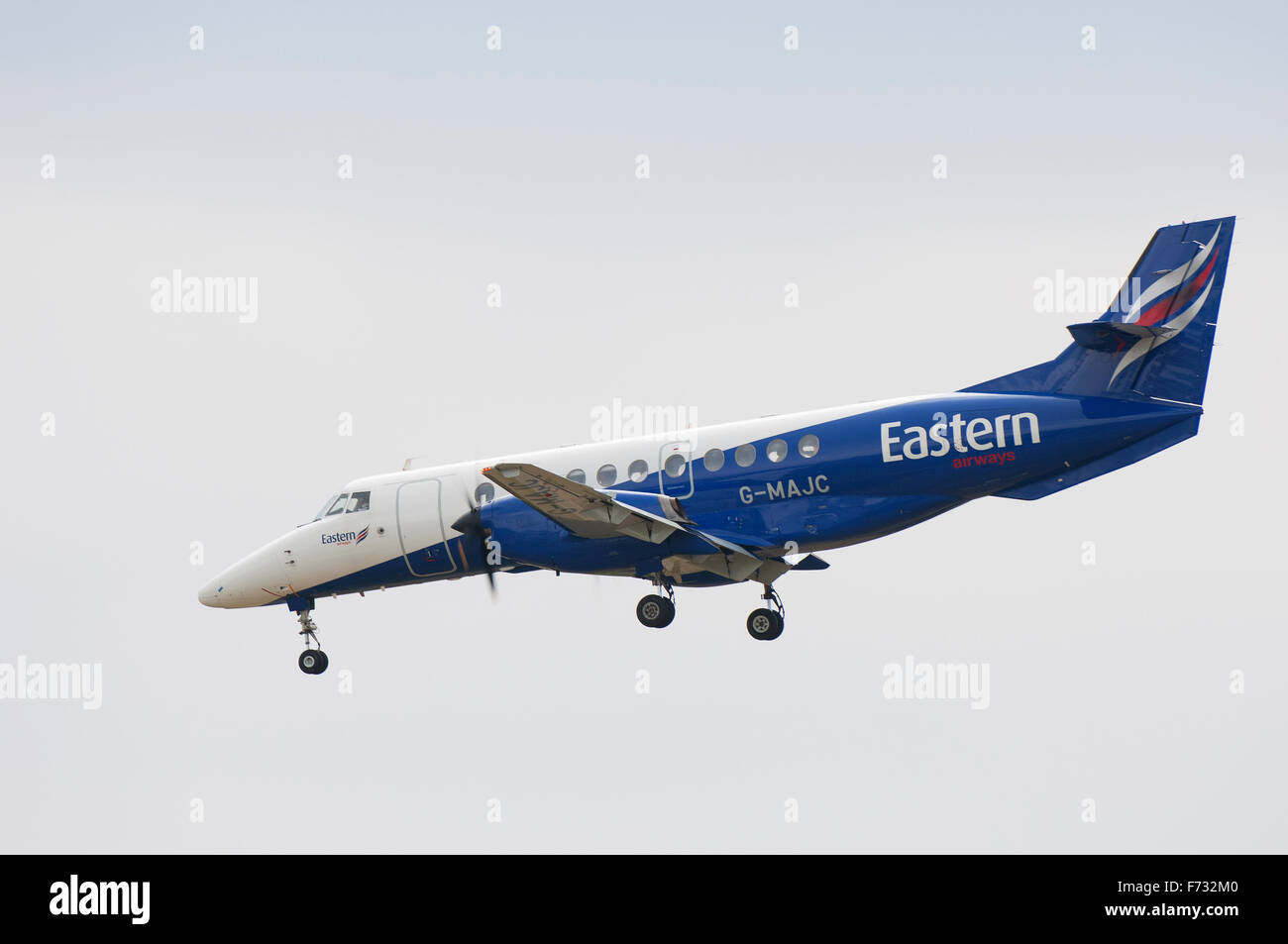 Eastern Airways British Aerospace Jetstream 4100 G-MAJC coming in to land at Inverness Airport, Scotland, UK. - Stock Image