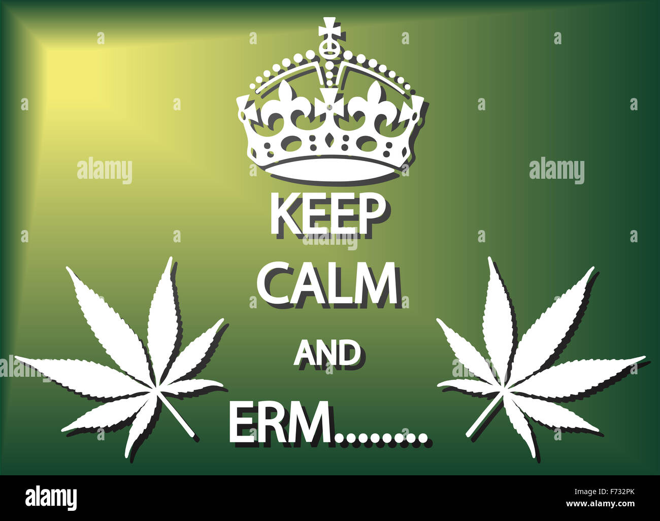 A Keep Calm And Erm Cannabis Poster Or Background Design