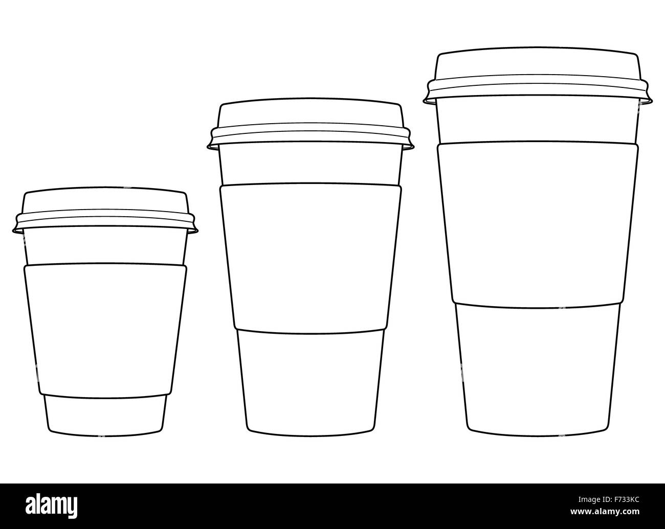 Coffee Paper Cups Stock Photo