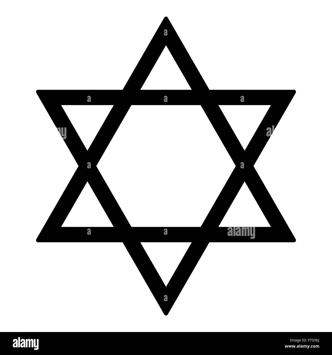 Judaism Star - Stock Image