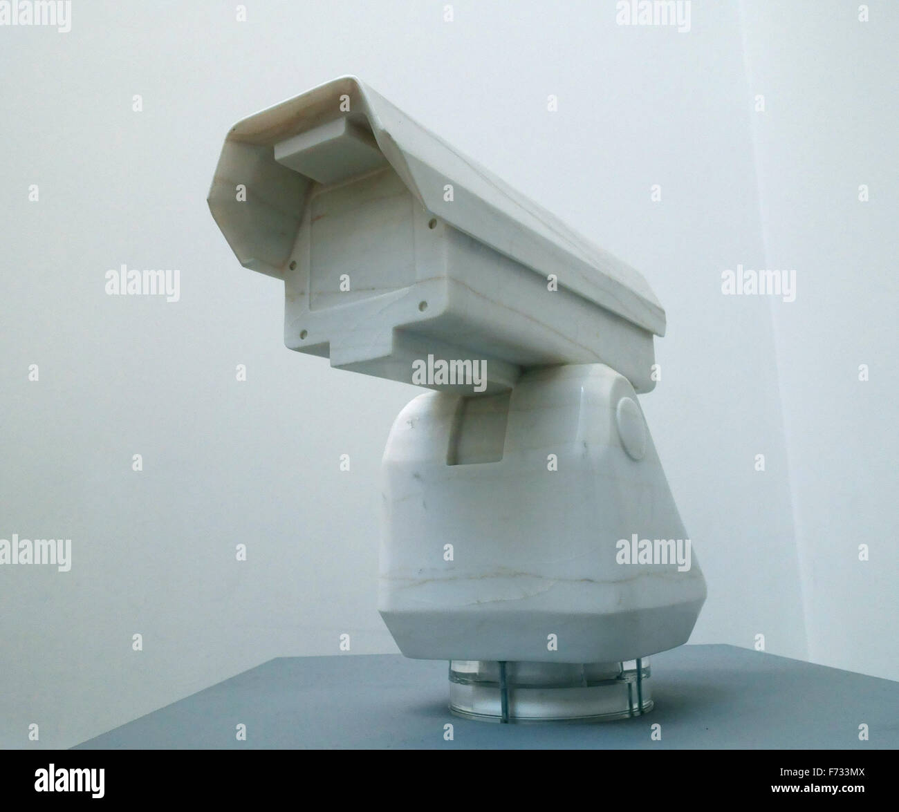 Marble surveillance camera by the Chinese sculptor Ai Weiwei - Stock Image