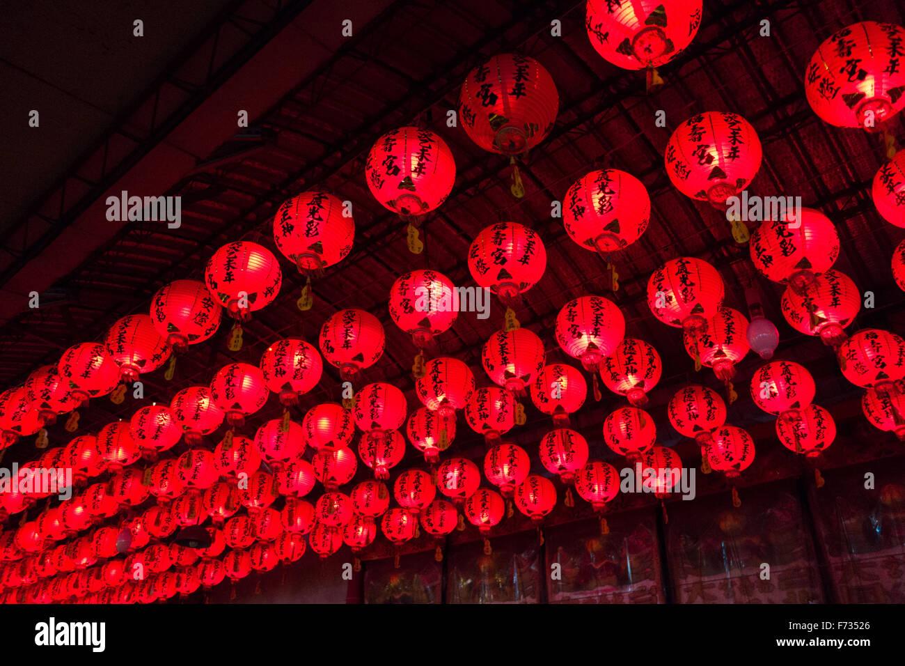 red lanterns - Stock Image
