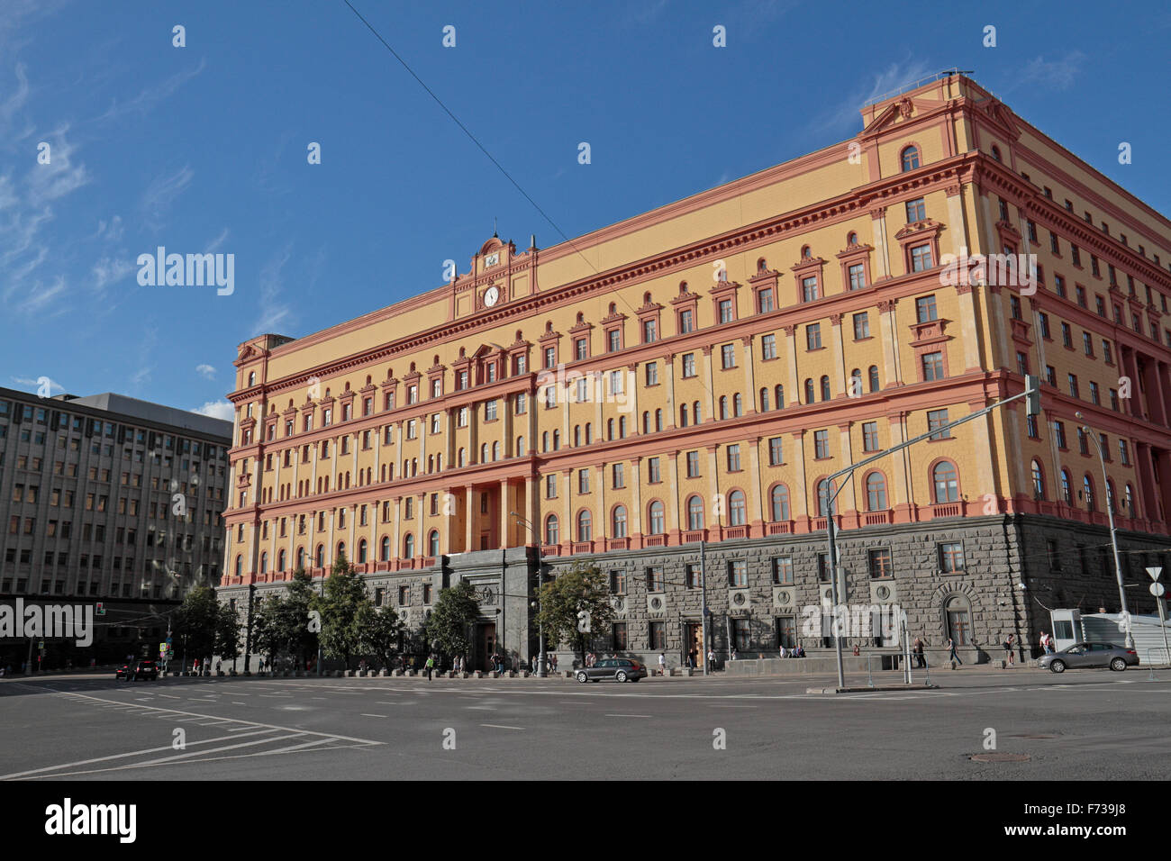 The former Lubyanka Prison and now the FSB HQ, Moscow, Russia. Stock Photo