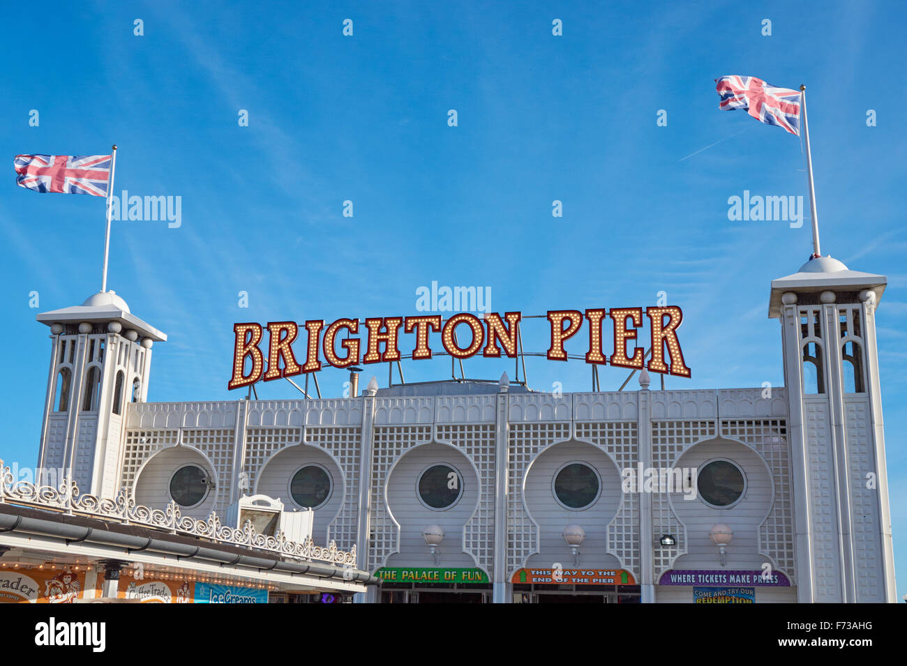 The Brighton Marine Palace and Pier, East Sussex England United Kingdom UK - Stock Image