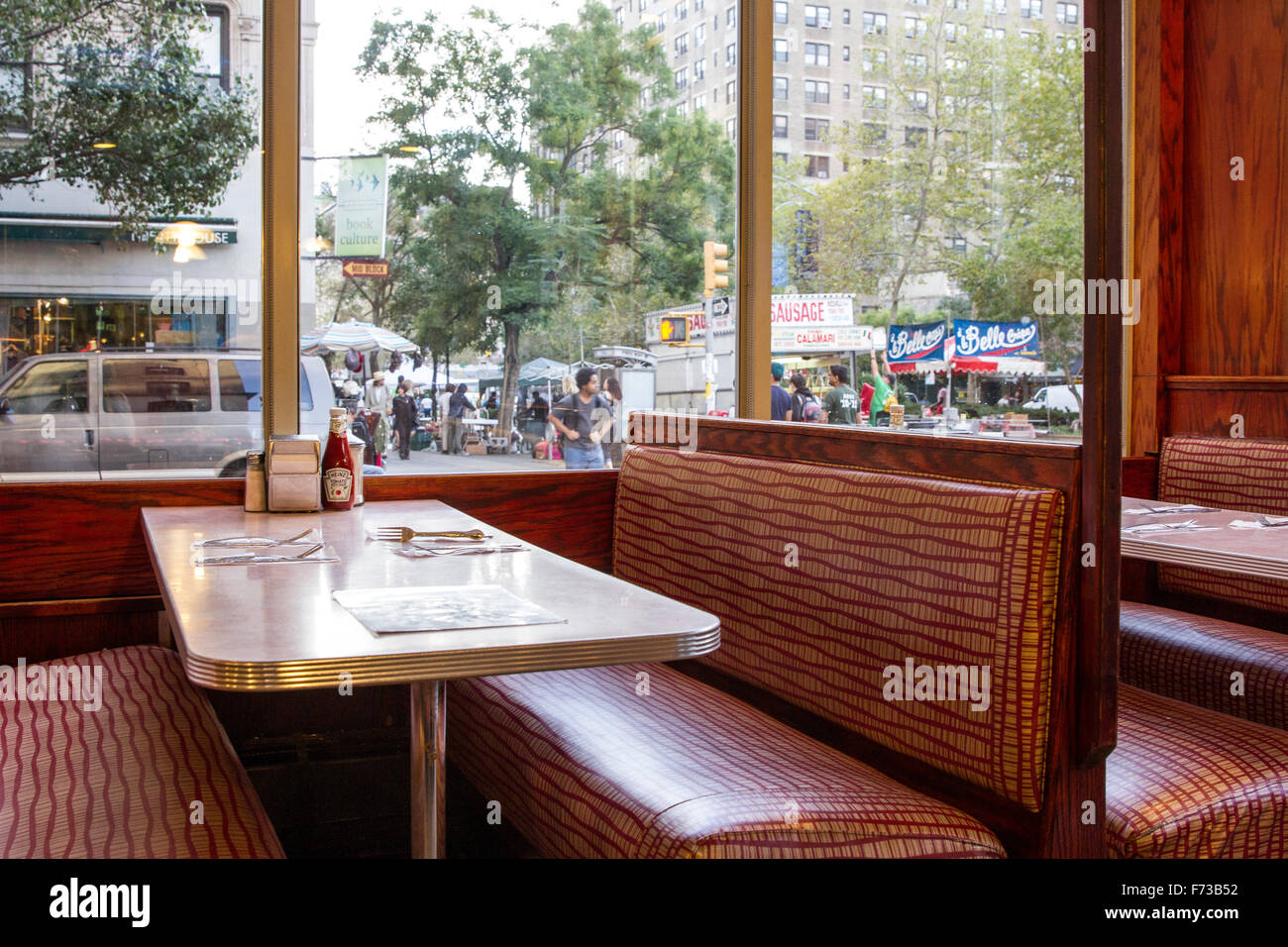 New York City Diner Booth Stock Photo Alamy