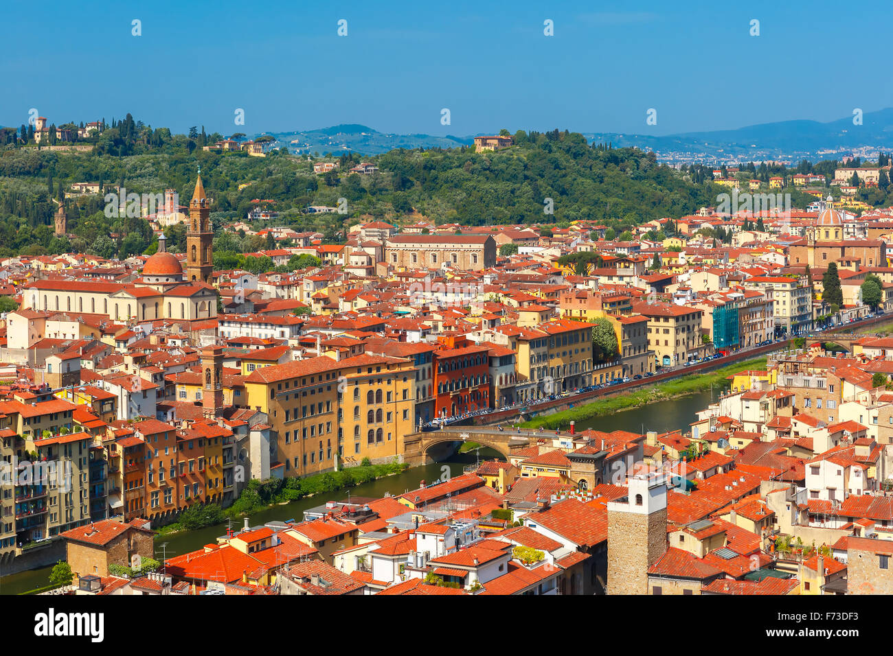 Oltrarno and Santo Spirito in Florence, Italy - Stock Image