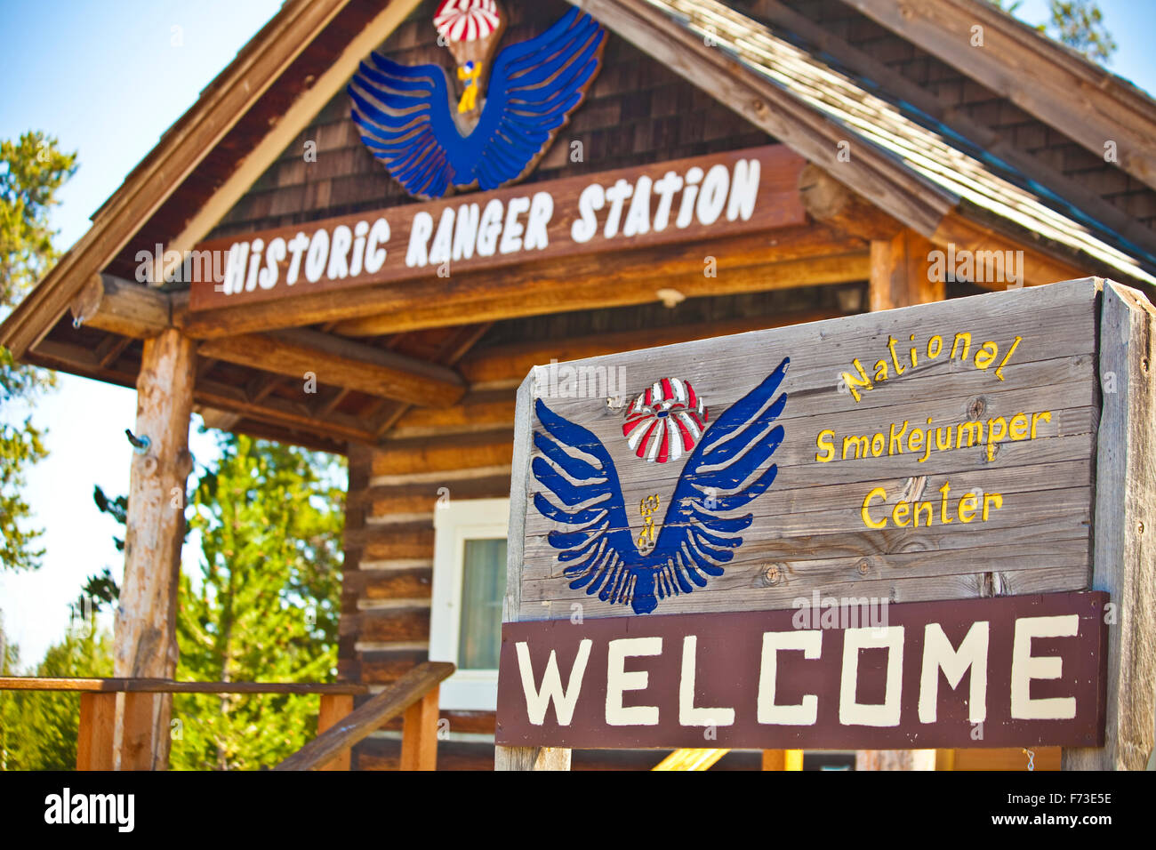 National Smokejumper Center, West Yellowstone, MT. - Stock Image