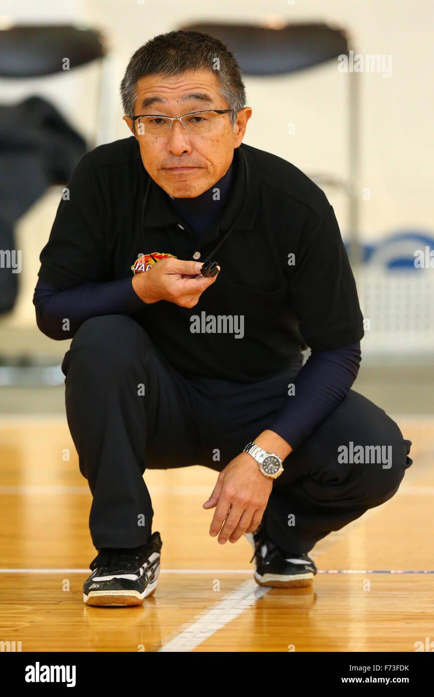 Ohme City general gymnasium, Tokyo, Japan. 21st Nov, 2015. Referee, NOVEMBER 21, 2015 - Goalball : 2015 Japan Goalball Championships at Ohme City general gymnasium, Tokyo, Japan. © Shingo Ito/AFLO SPORT/Alamy Live News Stock Photo