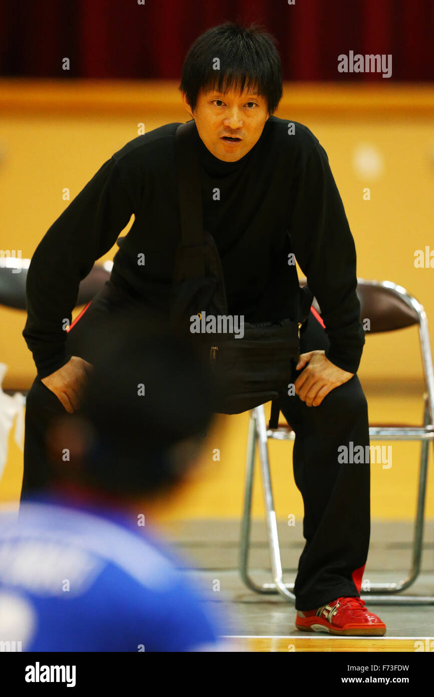 Ohme City general gymnasium, Tokyo, Japan. 21st Nov, 2015. Kyoichi Ichikawa, NOVEMBER 21, 2015 - Goalball : 2015 Japan Goalball Championships at Ohme City general gymnasium, Tokyo, Japan. © Shingo Ito/AFLO SPORT/Alamy Live News Stock Photo