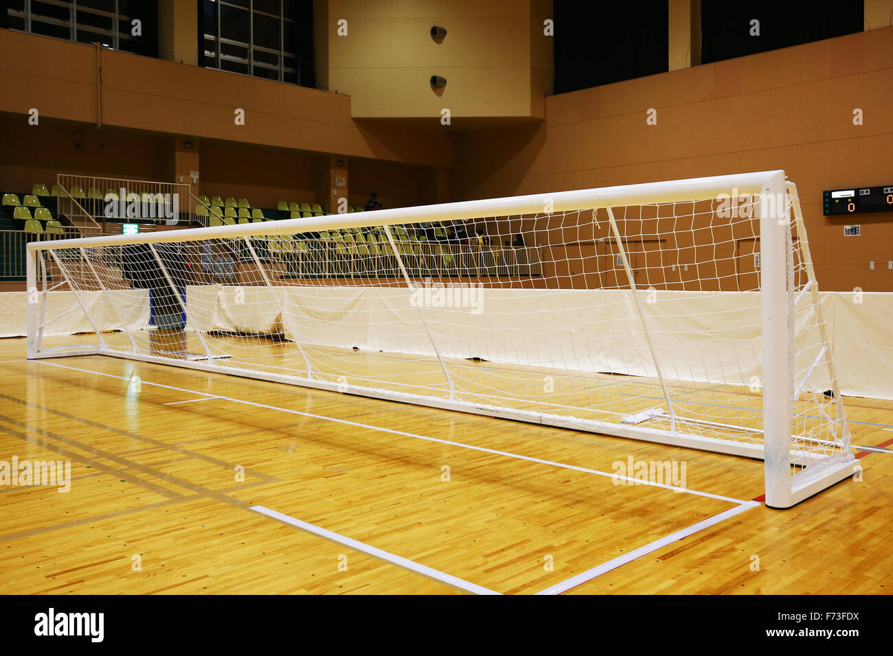 Goal for Goalball NOVEMBER 21, 2015 - Goalball : 2015 Japan Goalball Championships at Ohme City general gymnasium, Tokyo, Japan. © Shingo Ito/AFLO SPORT/Alamy Live News Stock Photo