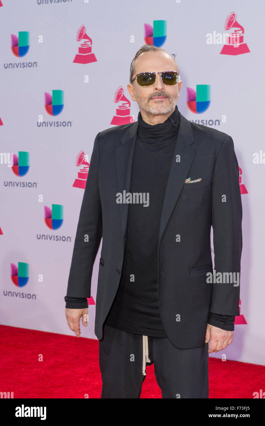 Musician Miguel Bose attends the 16th Annual Latin GRAMMY Awards in Las Vegas - Stock Image