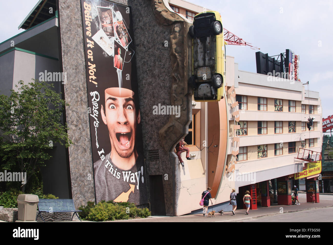 Ripley's Believe It Or Not building. Clifton Hill tourist area, Niagara Falls, Ontario, Canada. - Stock Image