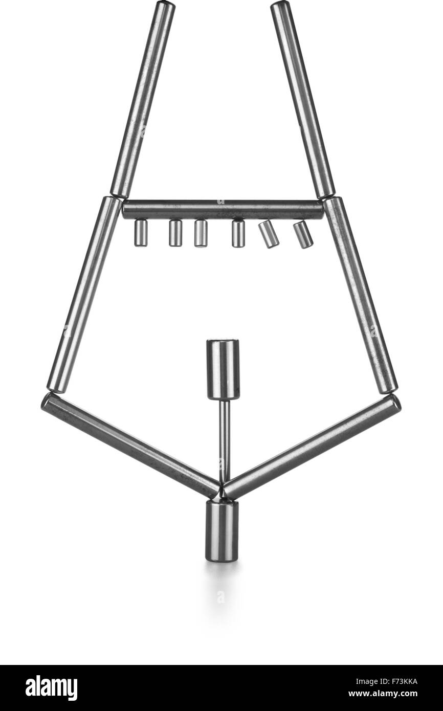 Balancing of rods - Stock Image