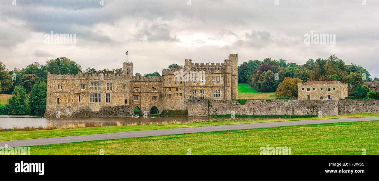 Image of Leeds Castle England. - Stock Image