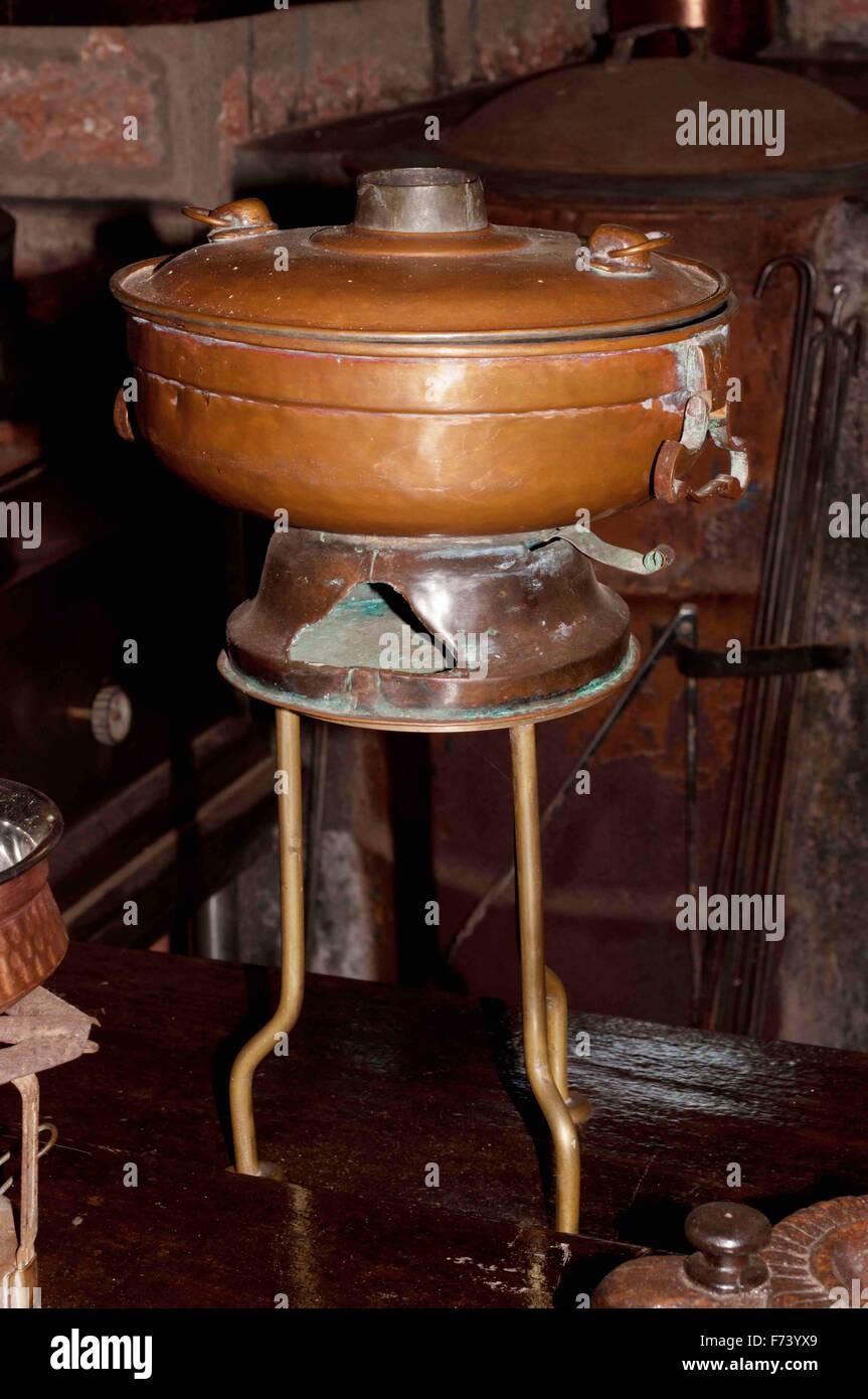 Antique stove, goa, india, asia - Stock Image