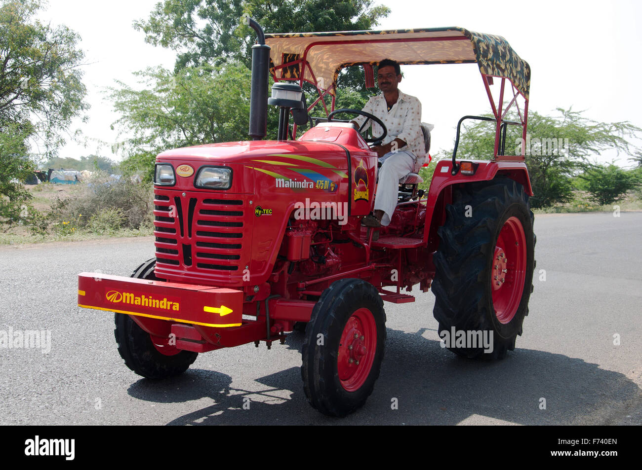 Farmer tractor, shirdi, nasik, maharashtra, india, asia - Stock Image
