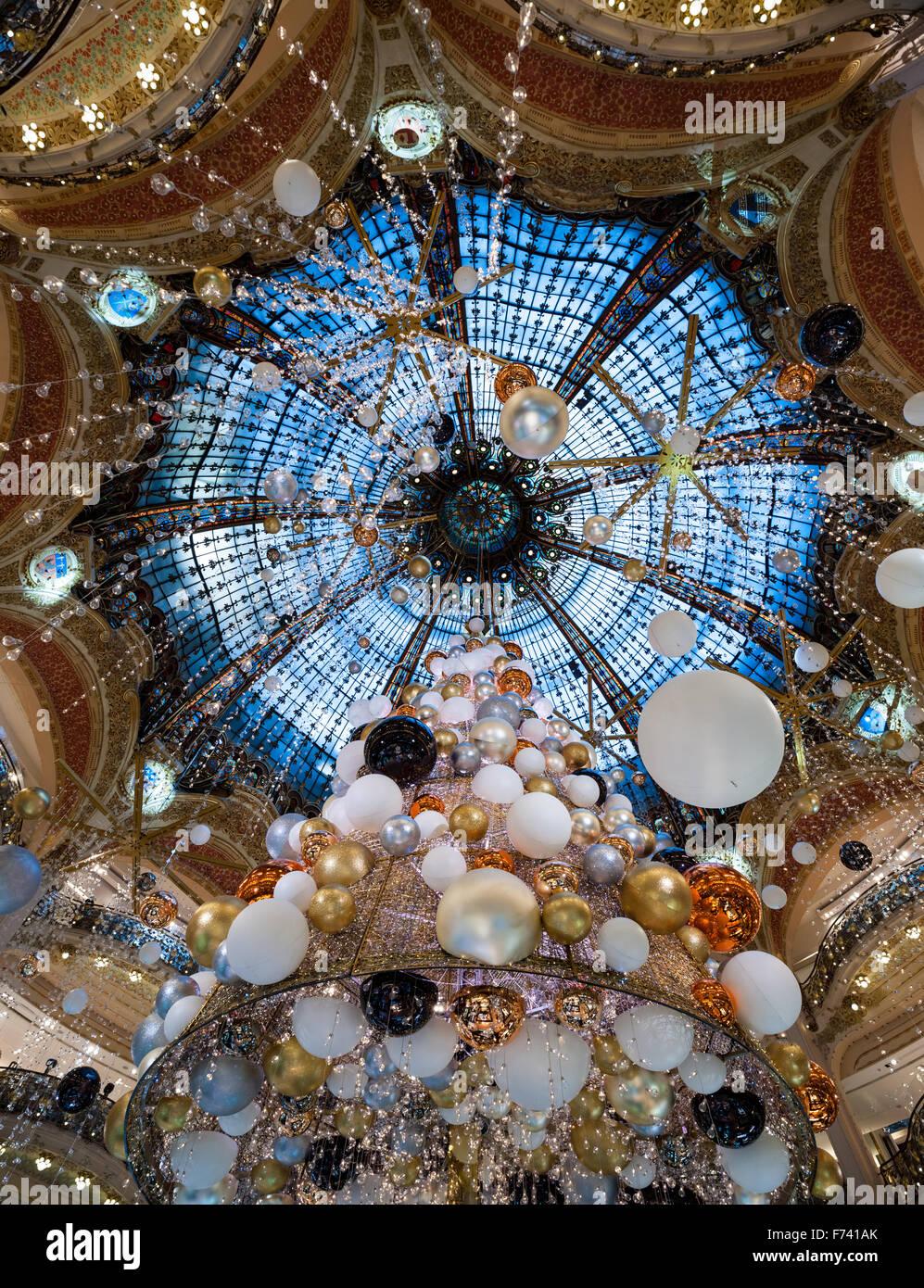 France, Paris, Galerie Lafayette - Stock Image