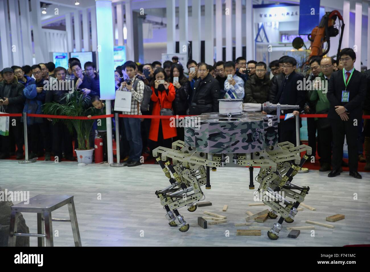Beijing, China  25th Nov, 2015  Visitors are attracted by a