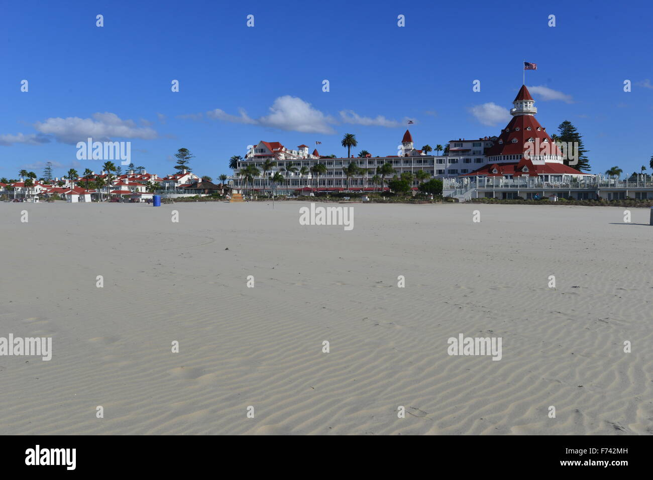 Hotel del Coronado  beach front hotel in the city of Coronado, Stock Photo