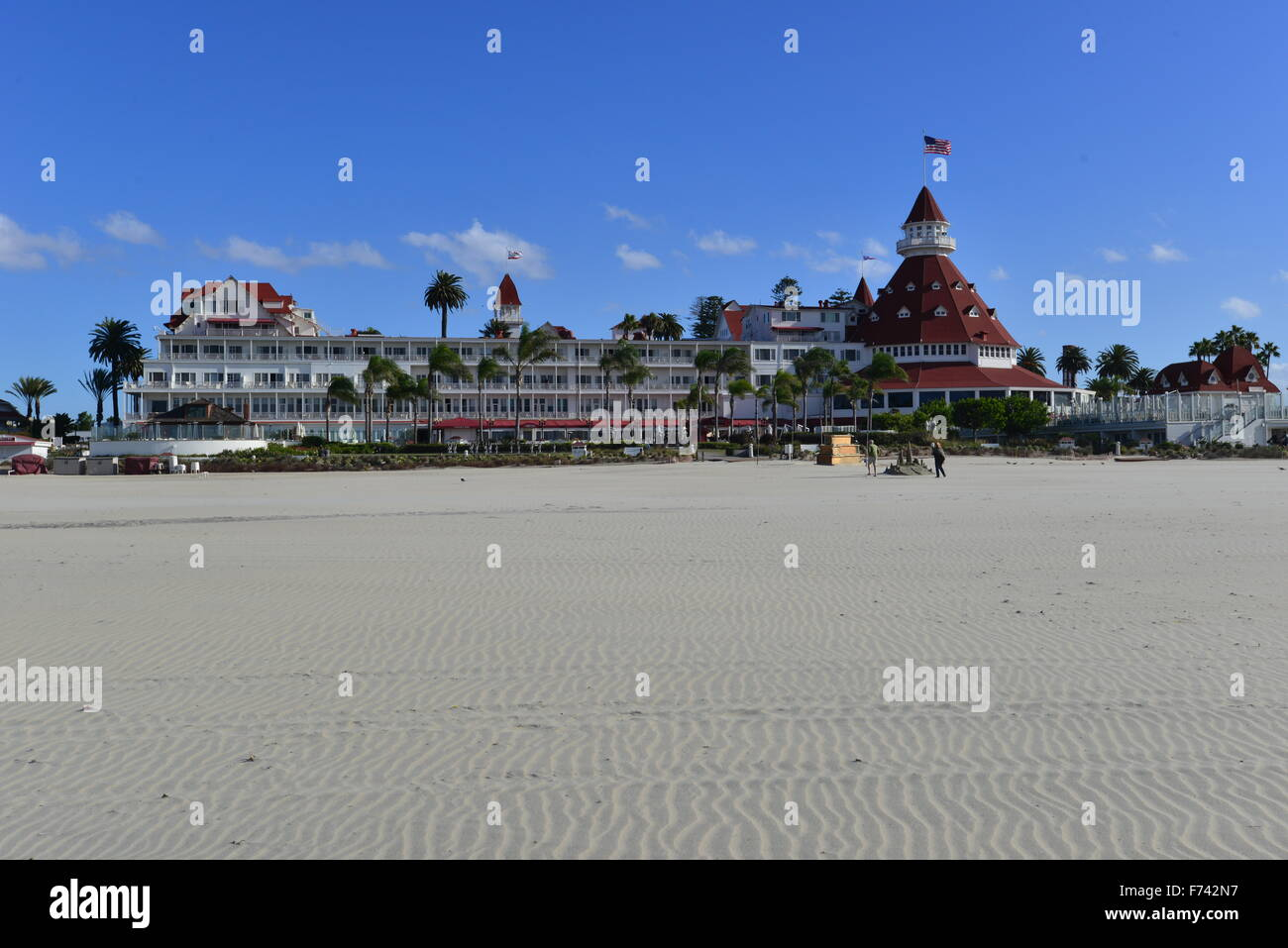 Hotel del Coronado  beach front hotel in the city of Coronado, - Stock Image