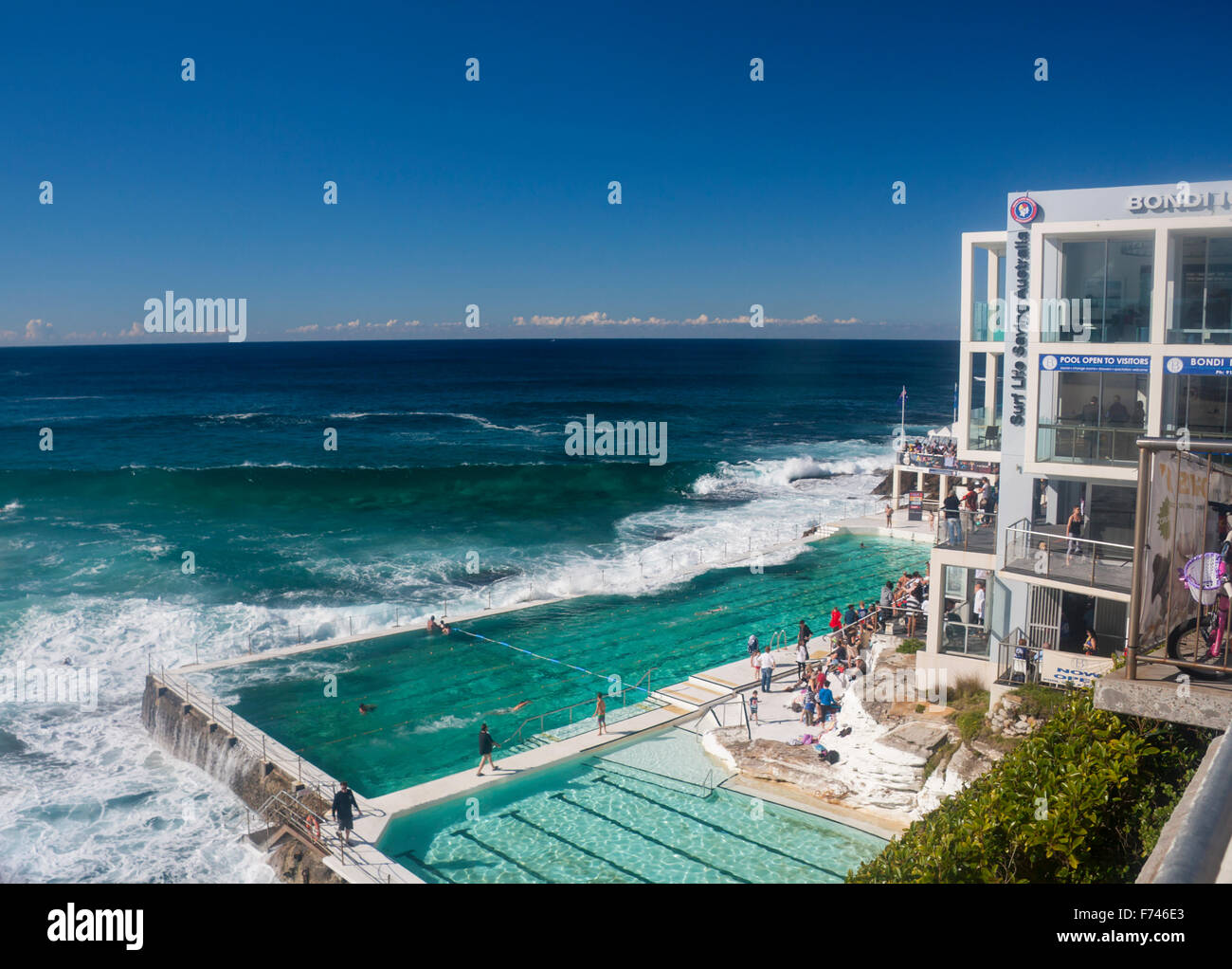 Bondi Icebergs Swimming Pool And Pacific Ocean Sydney New South Wales Stock Photo 90447339 Alamy