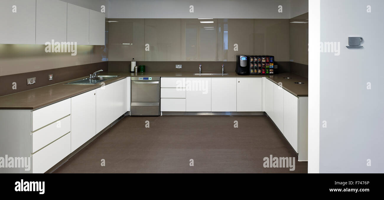 Kitchen facilities in Microsoft Research, Cambridge, England, UK - Stock Image