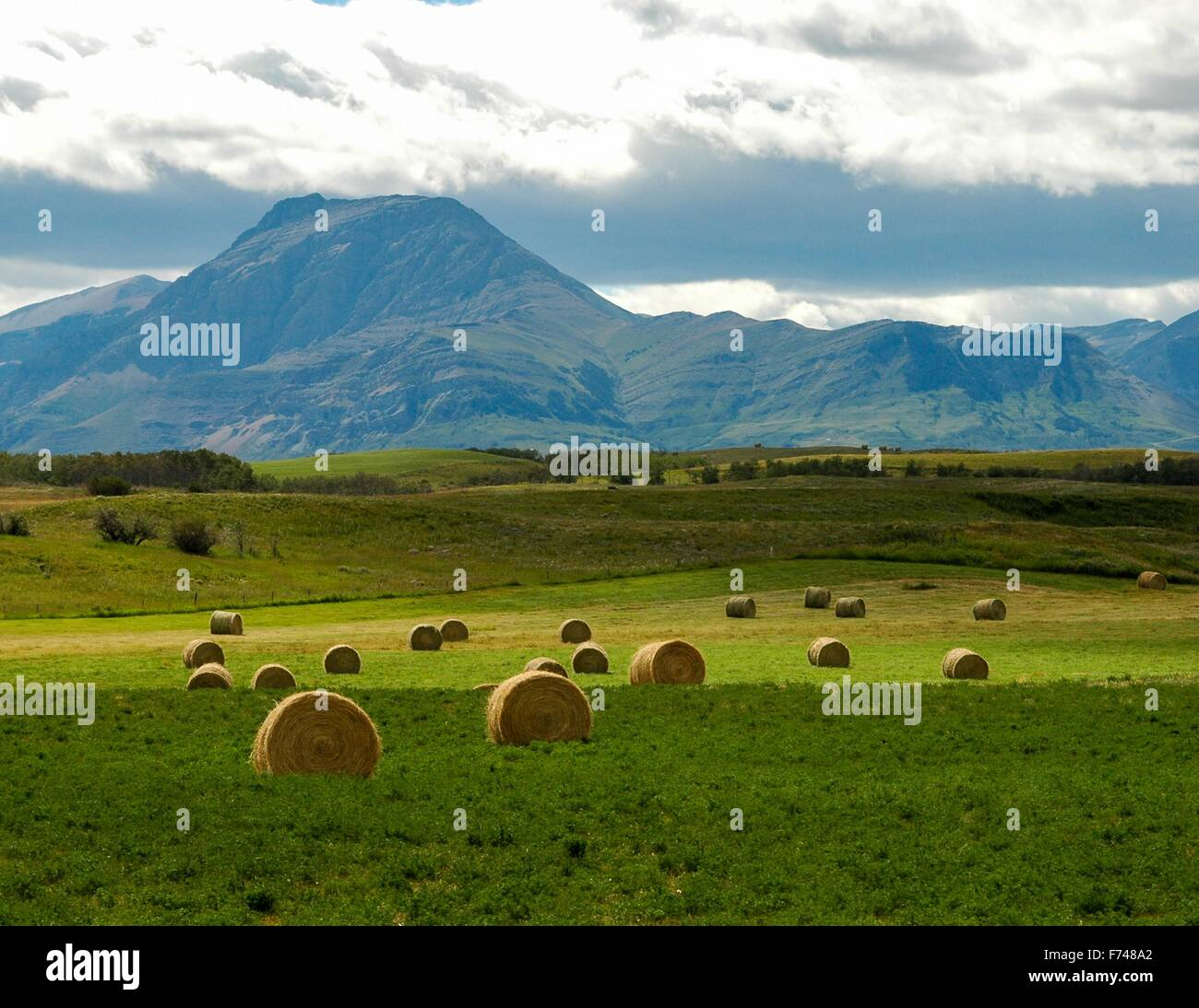 Majestic foothills in southern Alberta. - Stock Image